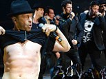 You Got It! 44-YEAR-OLD Donnie Wahlberg shows off chiseled abs during New Kids On The Block performance
