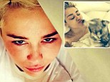 Depressed day: Miley Cyrus claimed to still be mourning the death of her dog Floyd on Saturday