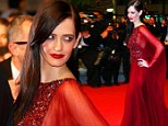 She's well RED! Actress Eva Green cuts a gorgeous gothic figure for The Salvation film premiere at Cannes