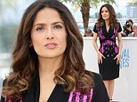 Still stunning at 47! Salma Hayek looks incredible from Dawn Till Dusk in smart LBD at her Cannes film screening of The Prophet