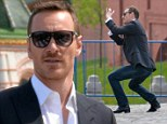 From Russia With Love: Irish actor Michael Fassbender takes in the sights of Moscow on Friday