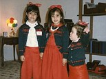 'Evil mom dressed up like this': Kim Kardashian shares sweet flashback picture with sisters but blasts their matching outfits