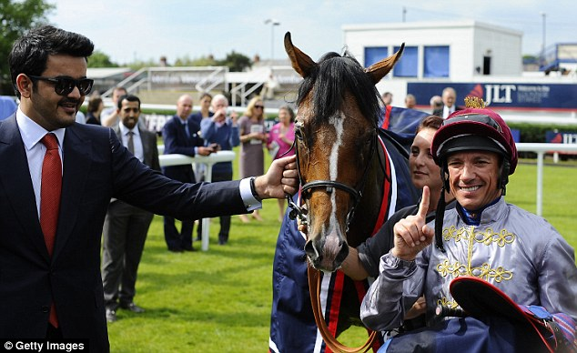 Donation: Olympic Glory owner Sheikh Joaan Al Thani gave £120,000 to the Injured Jockey Fund