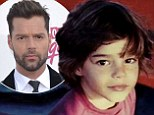 Retro Ricky! Martin's throwback snap shows hair wilder than his dance moves