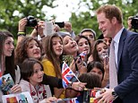 Prince Harry's appeal evidently extends to Italy - as he was greeted by scores of fans outside the MAXXI museum of 21st Century Arts in Rome, Italy