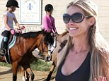Whoa there! Denise Richards enjoys a relaxing day supervising daughters as they go for horseback ride