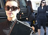 Last minute touches! Kim Kardashian shows off her famous derriere as she goes from gym to a trim ahead of her wedding