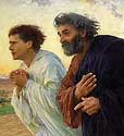 Free Christ Images: Peter and John Race to Tomb