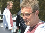 Clearly comfort over style! Matthew Perry appears content while sporting scruffy ensemble during cigarette break