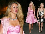 Looking rosy: Amy Willerton wows in a sugar-pink strapless dress as she steps out in Cannes for the 2014 Film Festival