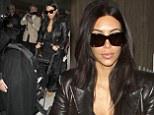 Kim Kardashian arrives at Paris