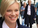 Amy Smart filming scenes for the TV movie Run For Your Life in which she plays a battered wife