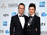 The couple that dress together! Guy Pearce and wife Kate Mestitz wear matching black tuxedos to The Rover premiere in Cannes