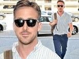 What a sight! Ryan Gosling surprised onlookers as he arrived at Los Angeles International Airport on Sunday