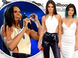 'I'm the worst reader!' Kendall Jenner fluffs her lines.... but turns heads in tight leather trousers as she joins Kylie at the Billboard Awards