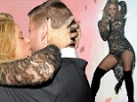 She's a golden girl! Raunchy Shakira stuns in sequined dress as she performs at Billboard Music Awards... then celebrates by kissing football star beau Gerard Pique