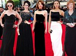 Gothic glamour is the style of choice at the TV BAFTA Awards 2014 with Helena Bonham Carter, Sophie Ellis Bextor and Jodie Whittaker hitting the red carpet in dramatic black gowns