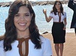 Can't bring her down! America Ferrera put on a brave face as she opened the American Pavilion during teh 67th Annual Cannes Film Festival in Cannes, France on Saturday