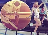 Traveling in style! Iggy Azalea sports her stage clothes as she takes a helicopter to take her to San Diego show