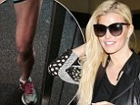 Jessica Simpson shows off her killer legs weeks before her wedding to Eric Johnson