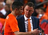 Manager's choice: Van Persie (left) will be van Gaal's (right) choice for captain when he takes over at United