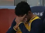 Inconsolable: Diego Costa may now be worried that his season is over