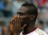 Bad week: Balotelli had to chase someone down after his mobile phone was stolen