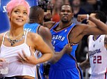 Rihanna sets pulses racing with provocative display at NBA play-offs