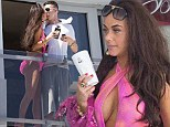 Chelsee Healey seen partying with friends at the Sisu Boutique Hotel Pool party in Puerto Banus, Marbella