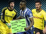 Ins? Petr Cech, Ilkay Gundogan and Jackson Martinez on Arsene Wenger's wishlist