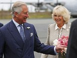 A Royal welcome: Prince Charles and Camilla, Duchess of Cornwall smile as they arrive at Robert L. Stanfield International Airport in Halifax, Nova Scotia