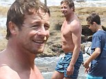 'I saw those images and thought, 'Whoa, steady up on the lagers a bit!' jokes Simon Baker about beach pictures taken in Australia