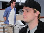 We're on a boat! Liam Hemsworth and Josh Hutcherson enjoy some leisure time on yacht during Cannes Film Festival