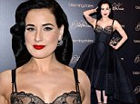 Dita Von Teese shows off her voluptuous body for the launch of new vintage-inspired lingerie range at Bloomingdales