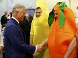 Charles meets a giant carrot