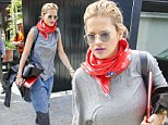 Rita Ora makes her way to the studio in baggy grey top and oversized denim jeans after celebrating her fourth UK Number 1 single