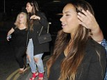 Leona Lewis pictured leaving Bodo's Schloss Club in Kensington at 330am after spending the night partying there.