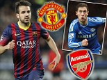 Manchester United and Arsenal told it will cost them £45m to sign Cesc Fabregas