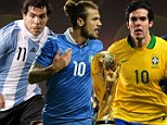 You're missing out lads! Sportsmail picks the best XI of players to be snubbed by their countries