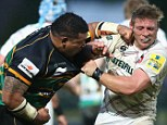 Heavy hit: Salesi Ma'afu (left) and Tom Youngs (right) were involved in a punch-up on Friday