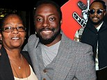 'Mum used to make me wear suits to school' The Voice coach will.i.am reveals how his strict mum kept him on the straight and narrow