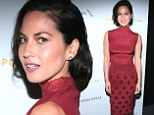 No sign of Aaron Rodgers! Olivia Munn shows off her slender figure in sleeveless dress at sports gala