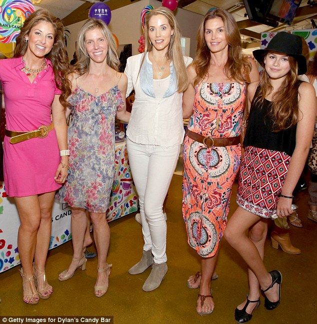 Girls afternoon out: Hosts Dylan, Jane Buckingham, Elizabeth Berkeley Lauren, Cindy and Kaia pose at the Candy Bar