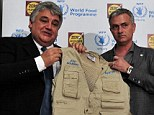 Bring it on: Jose Mourinho, who was unveiled as the new United Nations World Food Programme Ambassador Against Hunger, has welcomed new Manchester United manager Louis van Gaal to the Premier League