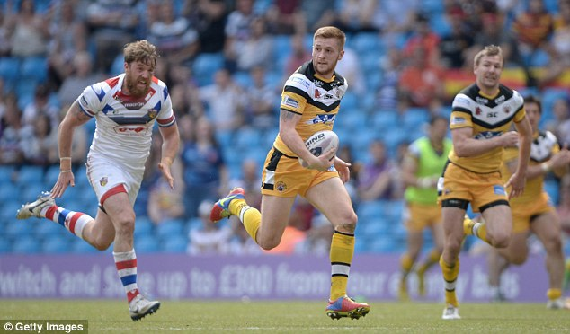 Runaway: Castleford playmaker Marc Sneyd gets clear to score one of his two tries in their defeat of Wakefield