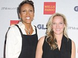 Robin Roberts and long-term girlfriend Amber Laign make rare public appearance together as they glam up for the GLSEN Respect Awards
