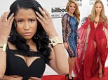 No underwear needed! Nicki Minaj flaunts her underboob, Jennifer Lopez bares her legs and Shakira unveils her trim waist as the stars release their racy sides at the Billboard Music Awards