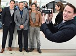 Actors Channing Tatum, Mark Ruffalo and Steve Carell attend the Foxcatcher photocall