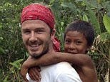 Cultural journey: Beckham explored the Amazon area of Brazil for the special documentary