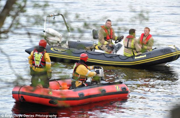Search teams from the North Wales Fire Service Water Incident Unit scoured Bala Lake before recovering a body shortly after 5pm